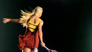 Slow motion video of Elena Dementieva for The New York Times Magazine shot by Dewey Nicks