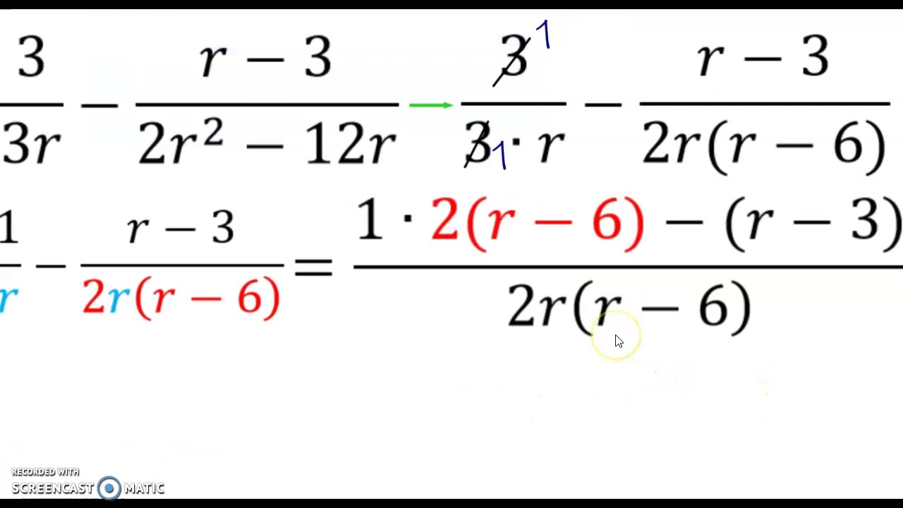 Unit 7 Day 1 Simplifying Rational Expressions Video Notes