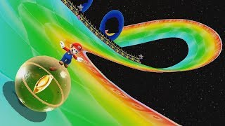Mario Kart Wii Rainbow Road In Super Mario Galaxy 2!