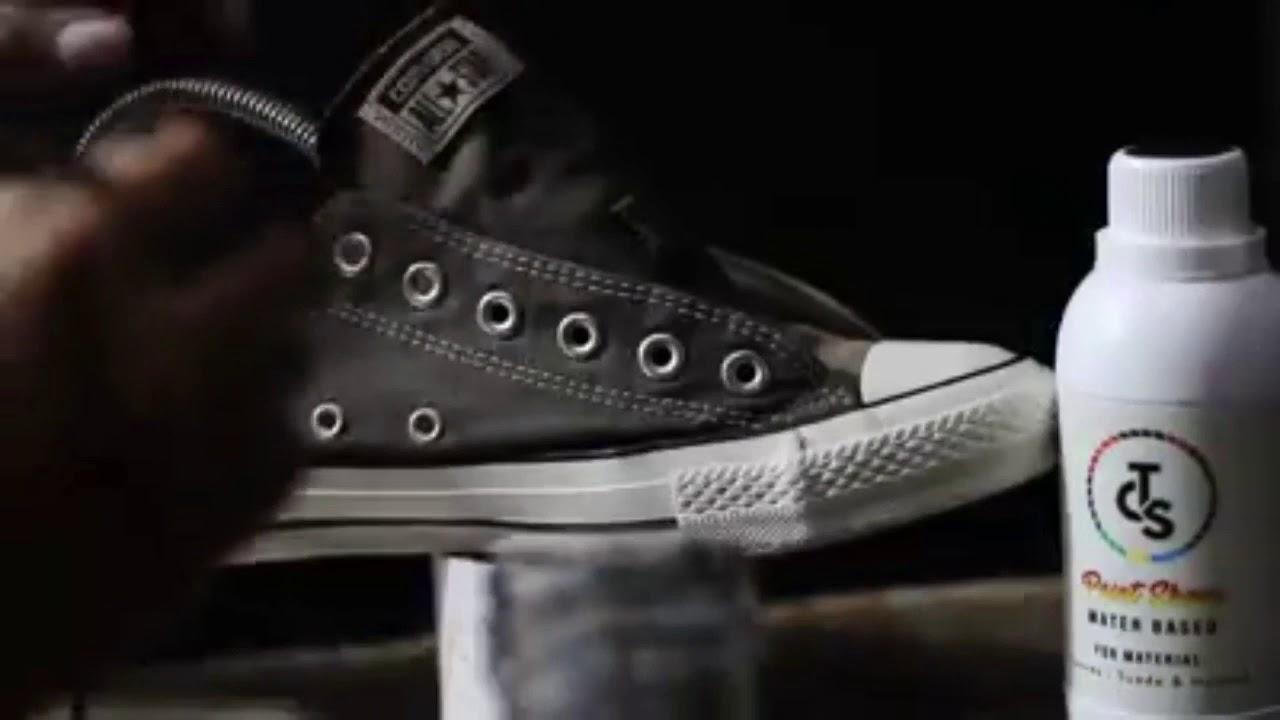 Mewarnai Ulang Sepatu Yang Telah Pudar Repaint Dengan