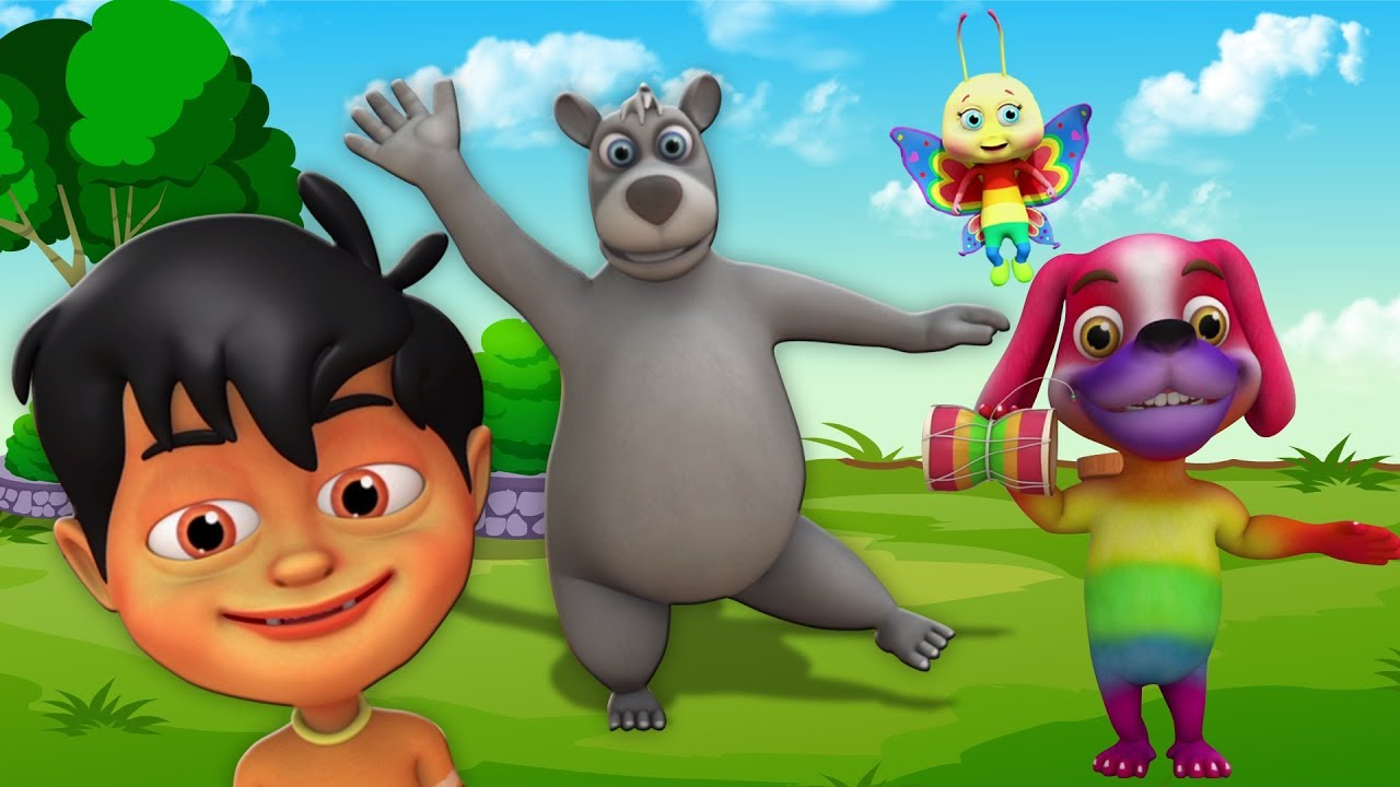 Kalu Madari Aaya  Hindi Nursery Rhymes  Balgeet In Hindi  Kids Channel India  कालू मदारी