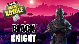 First Game using the Black Knight Skin! Fortnite Battle Royale Gameplay