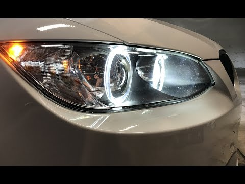 Installing LUX H8 180 LED Bulbs: E92 M3