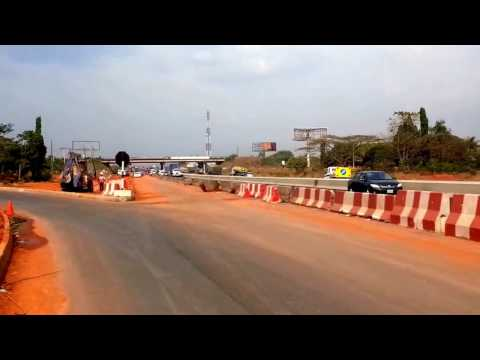 Construction work along Lagos Ibadan express way at Shagamu Interchange