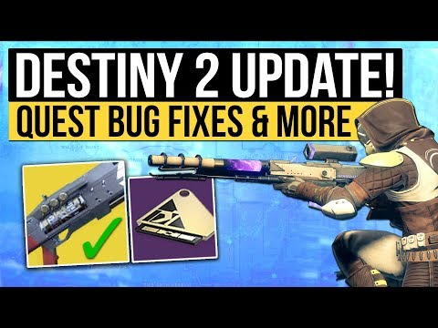 Destiny 2 News | NEW PATCH! - Bungie Address MIDA, Legend of Acrius Quest Fix, Raid Keys & Engrams!