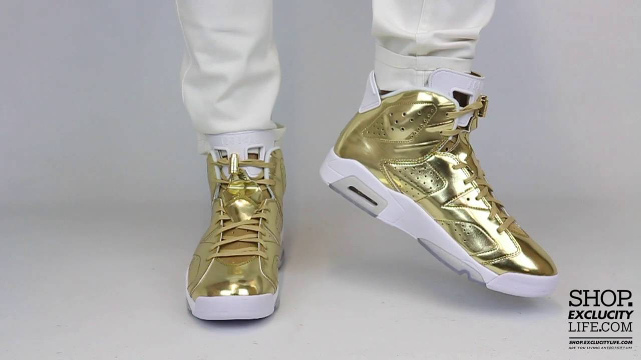 promo code 350ab 2971e Air Jordan 6 Retro Pinnacle Metallic Gold On feet Video at Exclucity