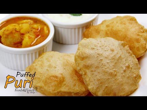 Puri/Poori Recipe | How to make soft puffed Puri | Easy Puri recipe for breakfast/lunch.