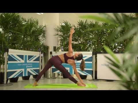 Pre-flight yoga | 20 minute yoga routine to help you relax before flying | Shona Vertue