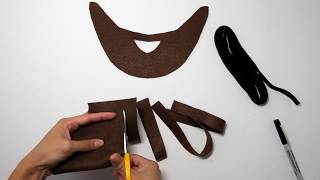 How-To: DIY Beard for Kids Costumes (No Sewing Required!)