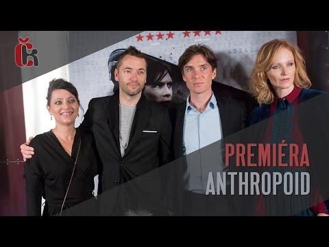 Premiéra Anthropoid v Praze - Cillian Murphy, Sean Ellis, Aňa Geislerová