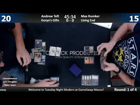Modern w/ Commentary 9/19/17: Andrew Tefft (Goryo's Gifts) vs. Max Rumker (Living End)