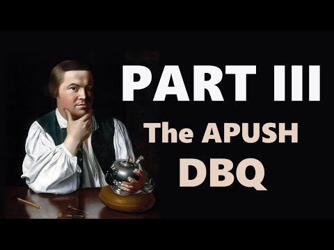Evidence and Understanding (The APUSH DBQ: Part III)