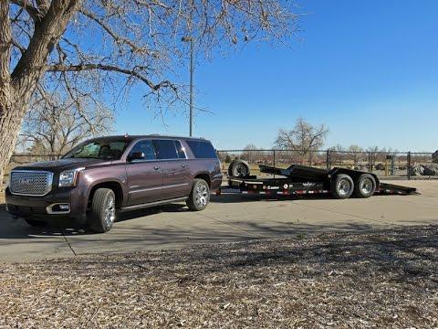 Denali Yukon XL 2015 review towing trailers in the Rockies