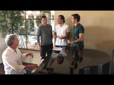 """Federer's """"Backhand Boys"""" Take On Chicago"""