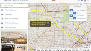 Using AAA TripTik Travel Planner - Construction and Traffic