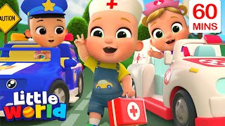 Download Mp3 Wheels On The Ambulance Song More Kids Songs Nursery Rhymes by Little World