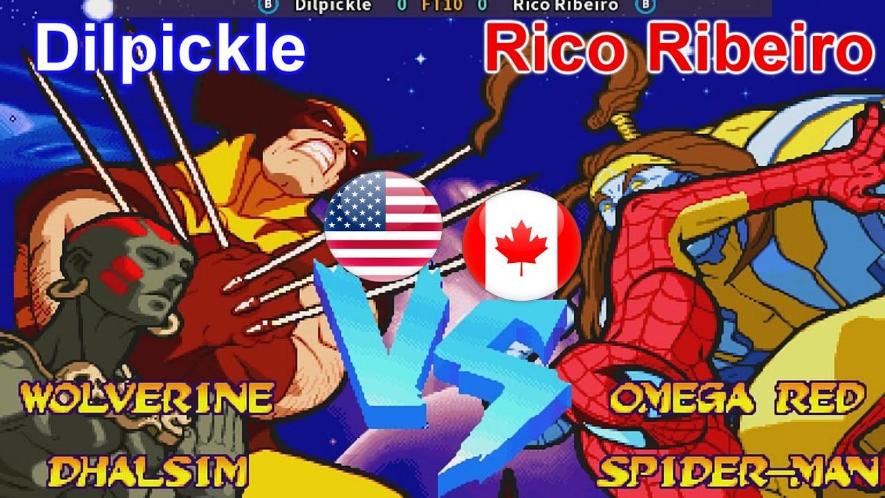 Marvel Super Heroes Vs. Street Fighter - Dilpickle vs Rico Ribeiro FT10