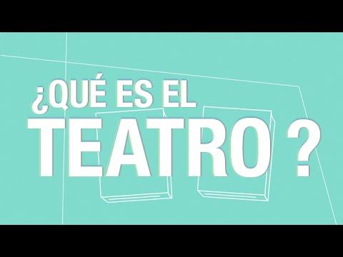 ¿Qué es el teatro?