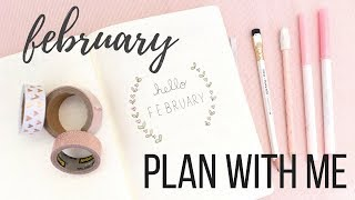 Plan with Me: February Setup in my Bullet Journal