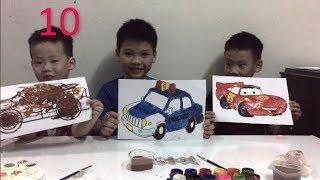 Bé Tô Màu , tô màu ô tô xe cảnh sát - BuBu TV