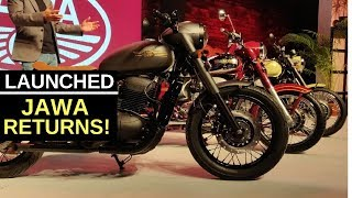 Jawa Motorcycles returns to India : first look from the launch