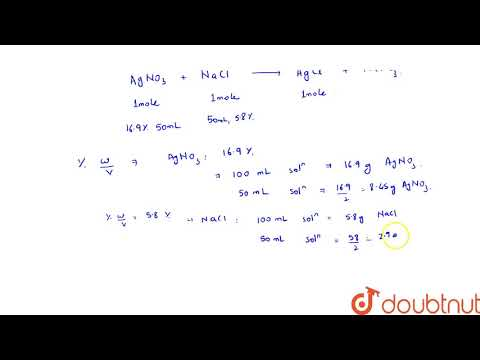 What Is The Mass Of The Precipitate Formed When 50 ML Of 16.9% Solution Of `AgNO_(3)` Is Mixed