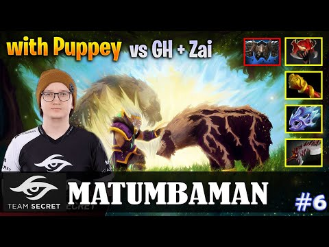 MATUMBAMAN - Lone Druid Safelane | With Puppey | Vs GH + Zai | Dota 2 Pro MMR Gameplay #6