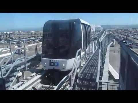 AirBART Cable Car arriving OAKland Airport Station