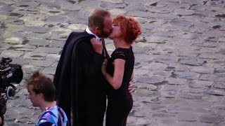 Sting KISSES Mylene Farmer On The Set Of His Latest Video Clip Stolen Car Duet Part 1