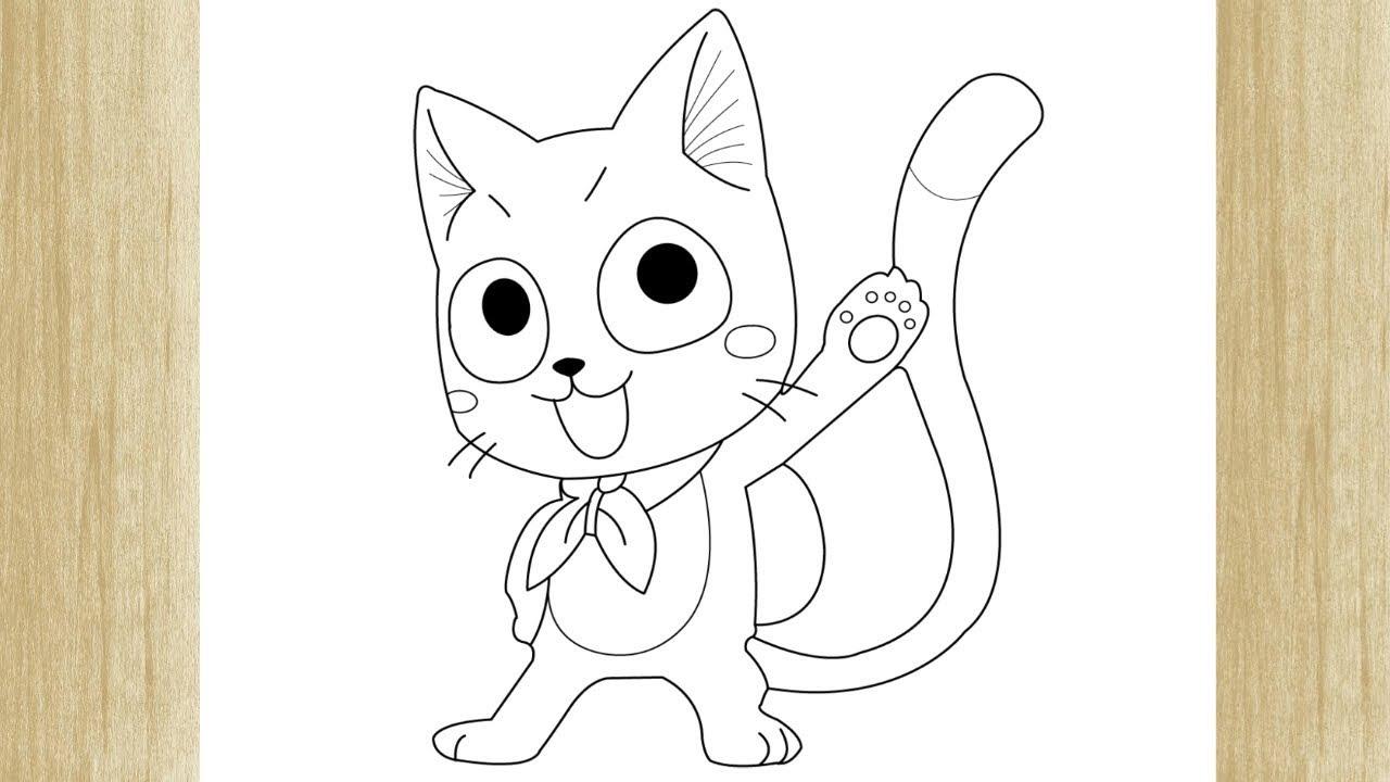 How To Draw Happy From Fairy Tail Como Desenhar O Happy De Fairy