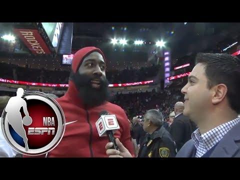 James Harden on return to Houston Rockets: 'I looked like I missed seven games' | NBA on ESPN