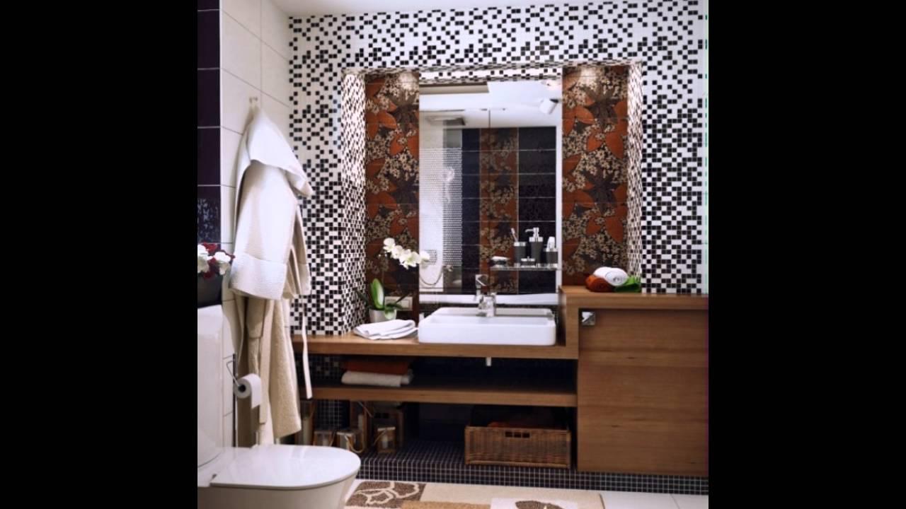 Schwarz Weiß Braun Badezimmer Design