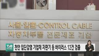 천안 집단감염 기업체 자판기 등 바이러스 12건 검출|…