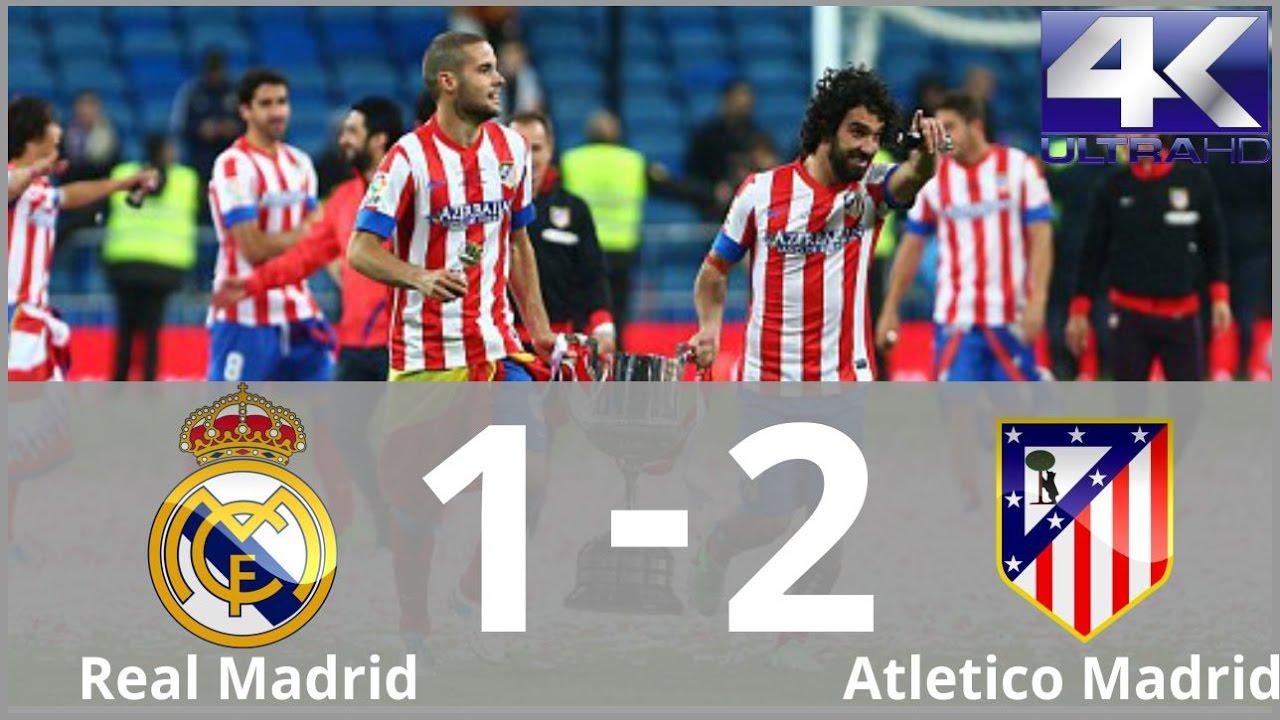 Real Madrid vs Atletico Madrid 1-2 Highlights & Goals (Final Copa ...