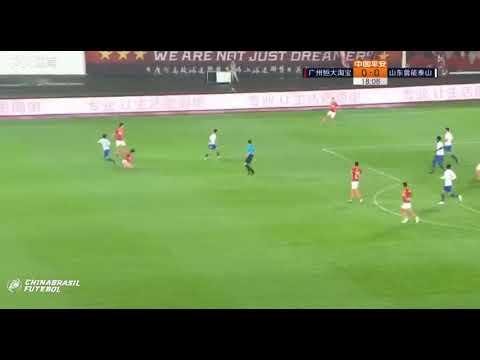 1° Gol de Anderson Talisca - GZ Evergrande x Shandong Luneng - 6a rodada da Super Liga da China 2019