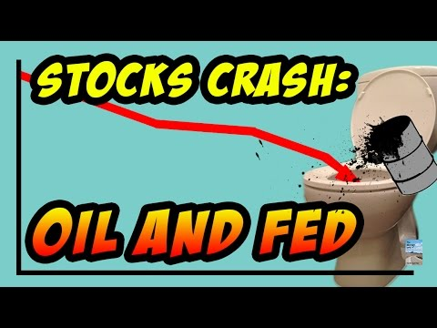 Stocks CRASH on Crude Oil Hitting Financial Crisis Lows and Fed Interest Rates!