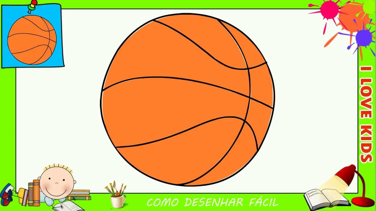 como desenhar uma bola de basquete facil passo a passo para crianças