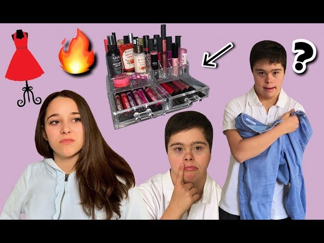 ¡MI HERMANO ELIGE MI OUTFIT y MI MAQUILLAJE! 😱 //WithJulia