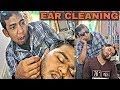 Ear cleaning and Face massage combo by Asim barber | Indian ASMR | Neck cracking