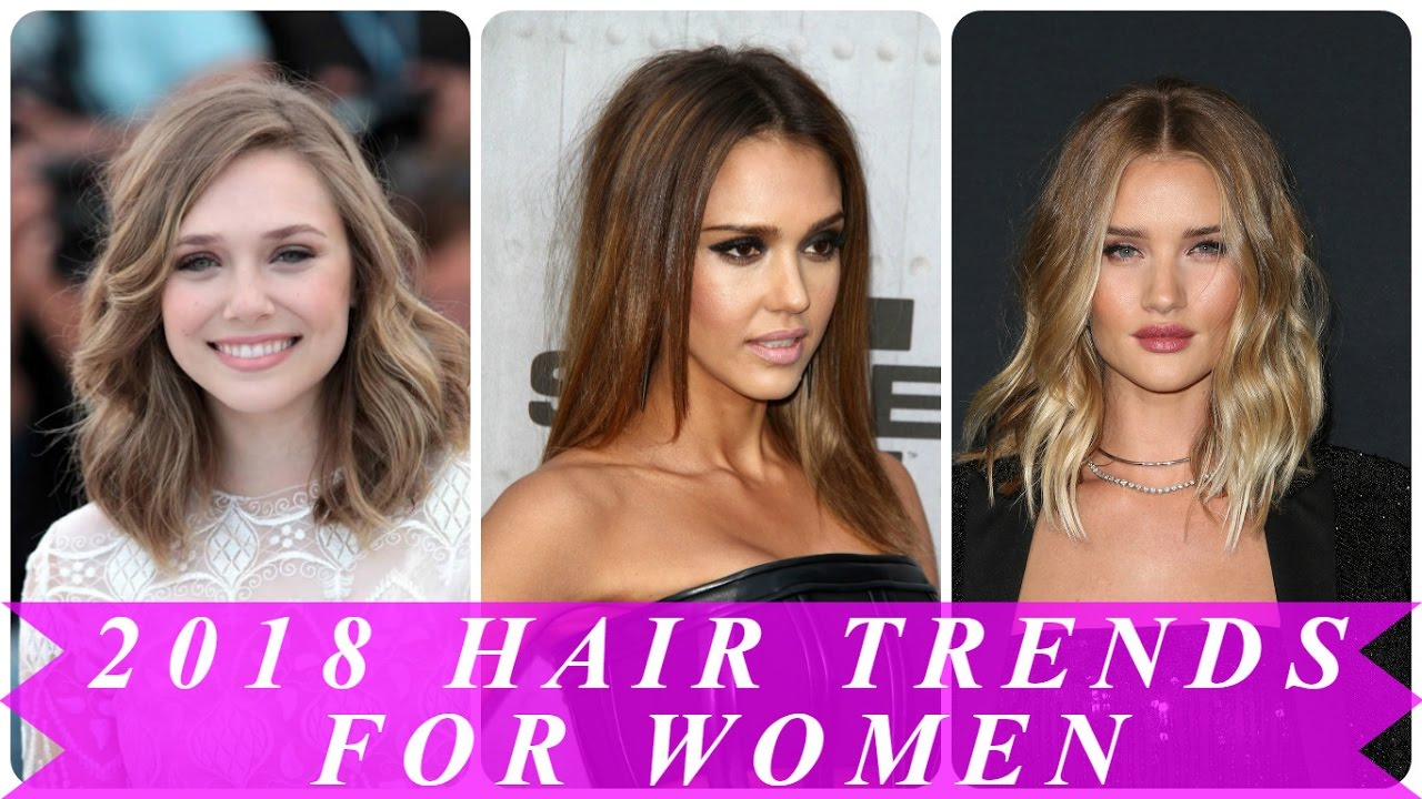 2018 hair trends for women - youtube
