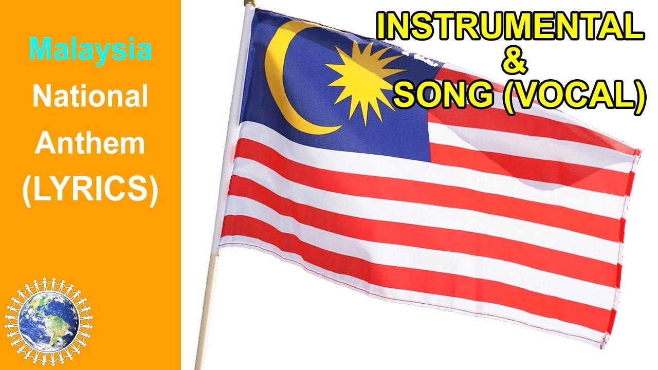 National Anthem Of Malaysia Instrumental Song Lyrics Negaraku Youtube