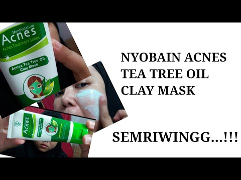 Nyobain Acnes Tea Tree Oil Clay Mask - Masker For Acne Skin