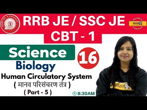Class-16 ||#RRB JE/SSC JE/CBT-1 || Science || Biology| By Amrita Ma'am || Human Circulatory System