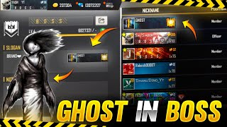 Ghost Member In Boss Guild !! 😳❌ - Garena Free Fire