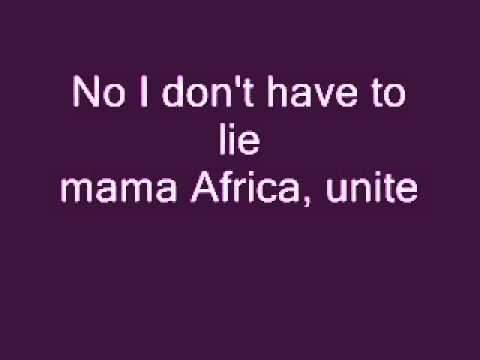 Akon mama africa with Lyrics on screen