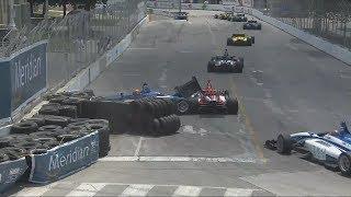 Indy Lights 2017. Race 1 Grand Prix of Toronto. Matheus Leist & Nico Jamin Crash
