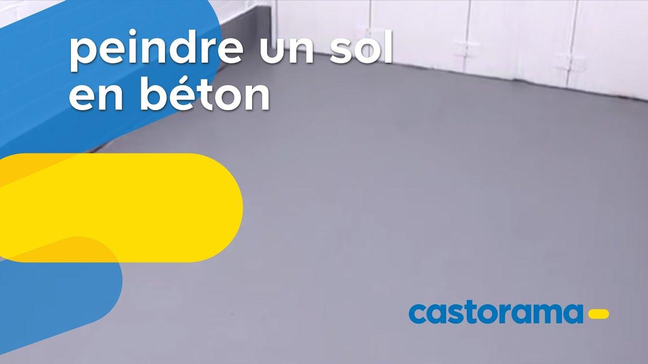 Peindre Un Sol En Beton Castorama Youtube