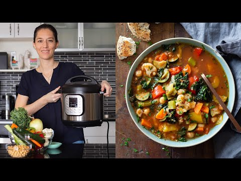 Instant Pot Vegetable Soup | Quick, Easy, Delicious!