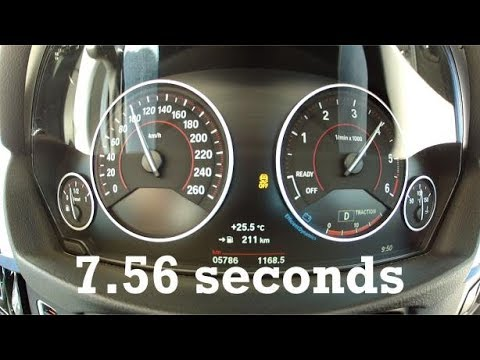 2016 BMW 320d (190PS) GT 0-160km/h 100mph with GPS data