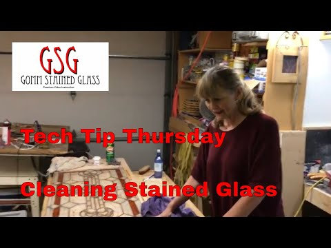 Tech Tip Thursday - How To Clean A Stained Glass Window After Soldering V173
